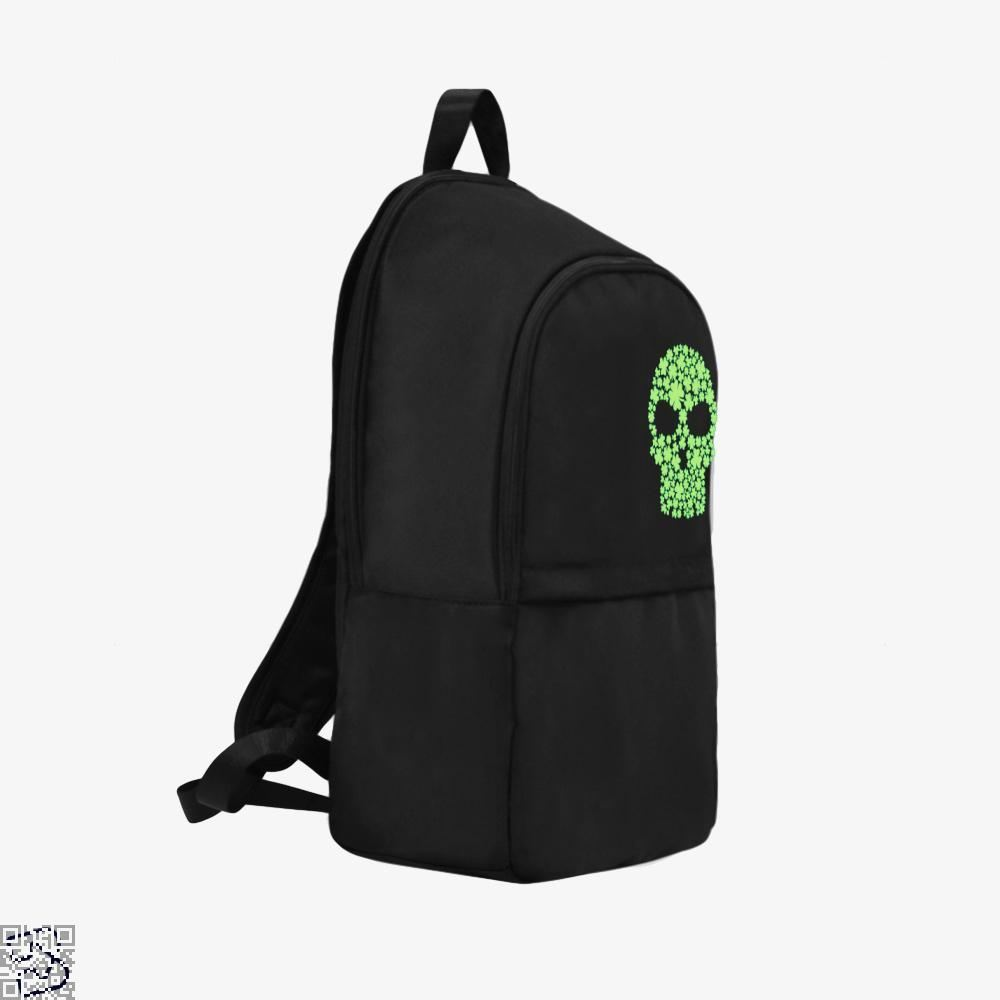 Shamrock Skull Irish Clover Backpack - Productgenjpg
