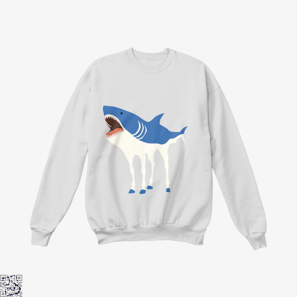 Sharkhorse Horse Crew Neck Sweatshirt - White / X-Small - Productgenapi