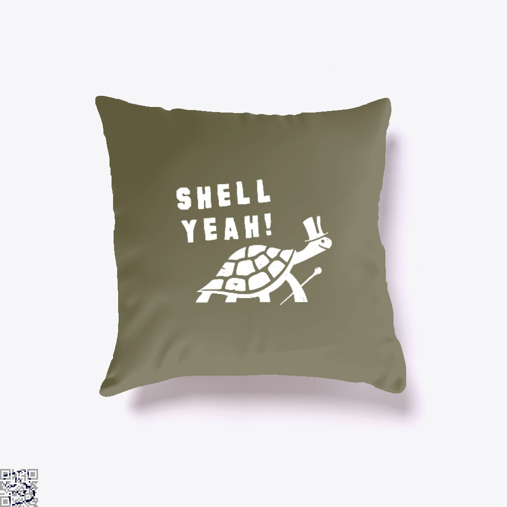 Shell Yeah Juvenile Throw Pillow Cover - Brown / 16 X - Productgenjpg