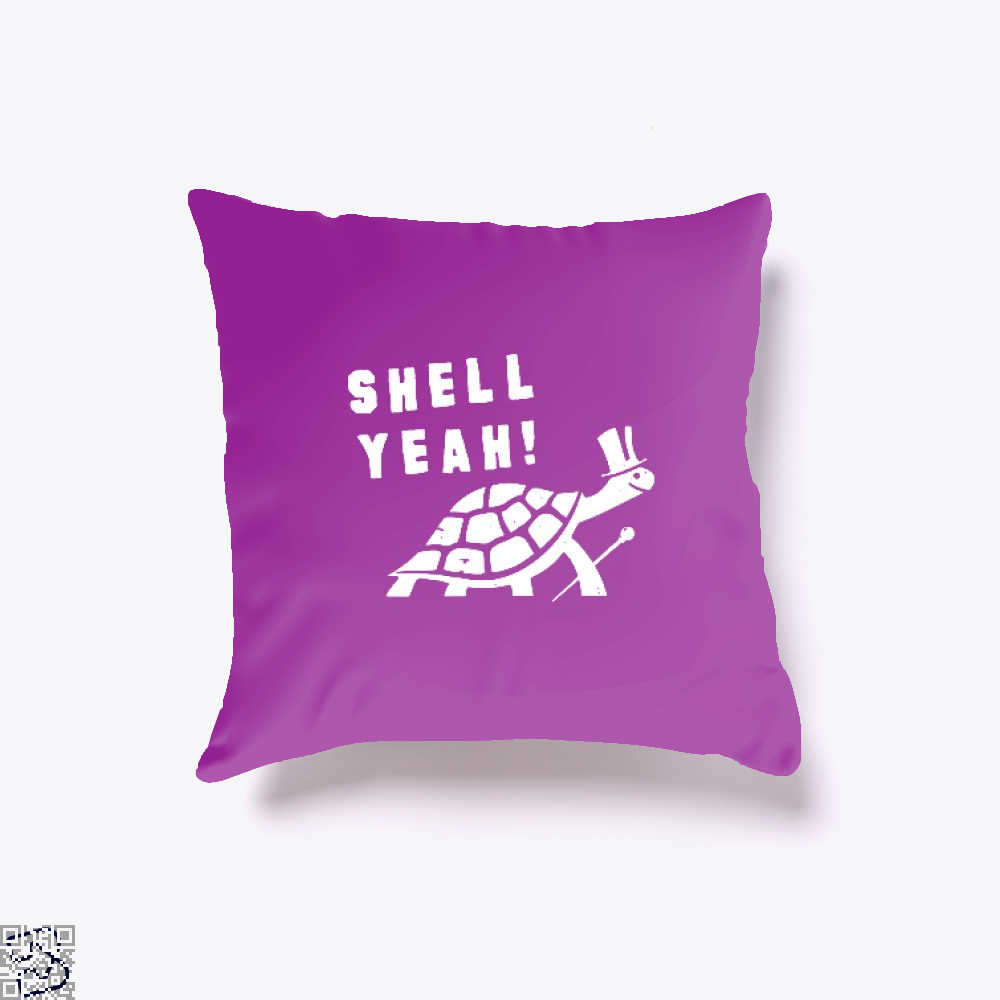 Shell Yeah Juvenile Throw Pillow Cover - Purple / 16 X - Productgenjpg
