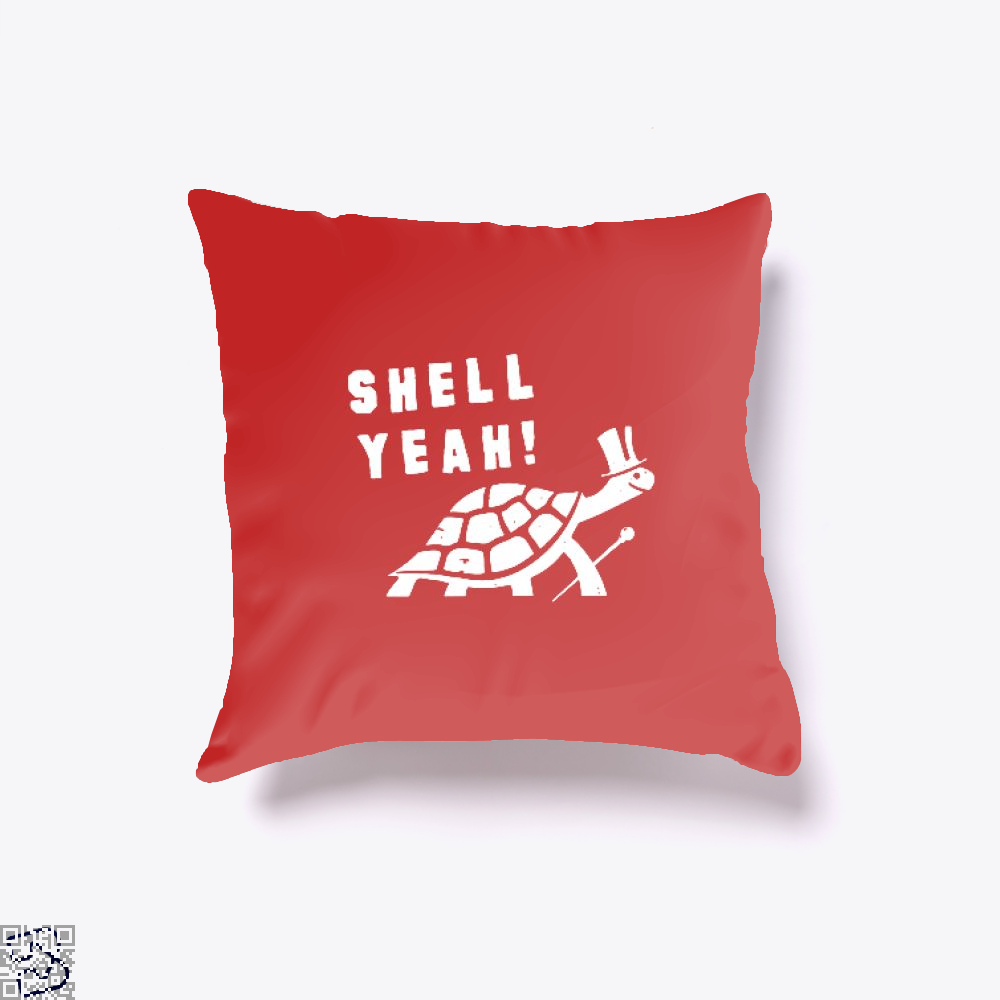 Shell Yeah Juvenile Throw Pillow Cover - Red / 16 X - Productgenjpg