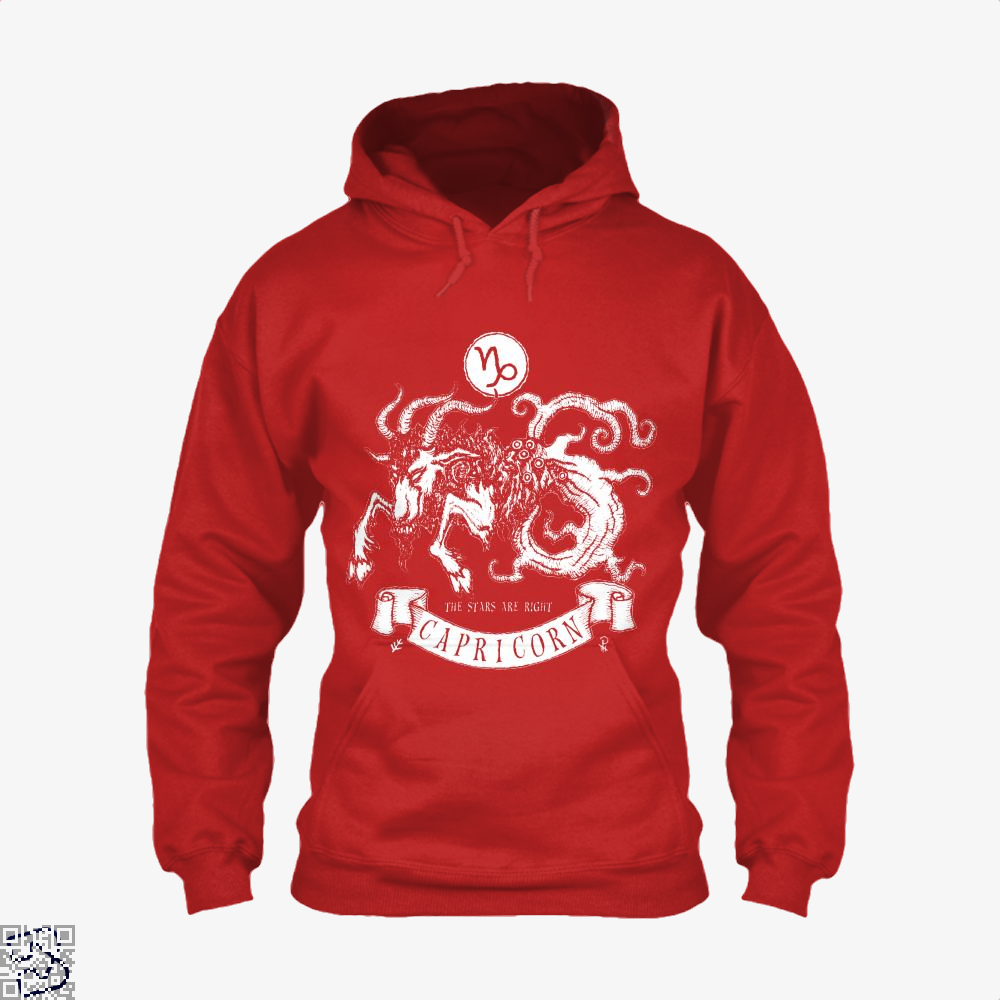 Shub-Niggurath Capricorn Astrology Hoodie - Red / X-Small - Productgenapi