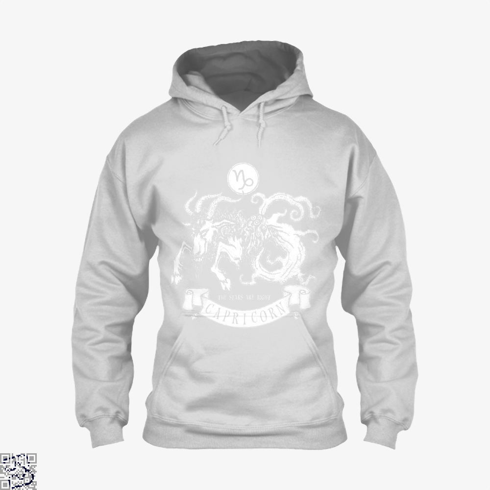 Shub-Niggurath Capricorn Astrology Hoodie - White / X-Small - Productgenapi
