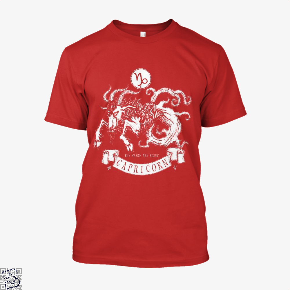 Shub-Niggurath Capricorn Astrology Shirt - Men / Red / X-Small - Productgenapi
