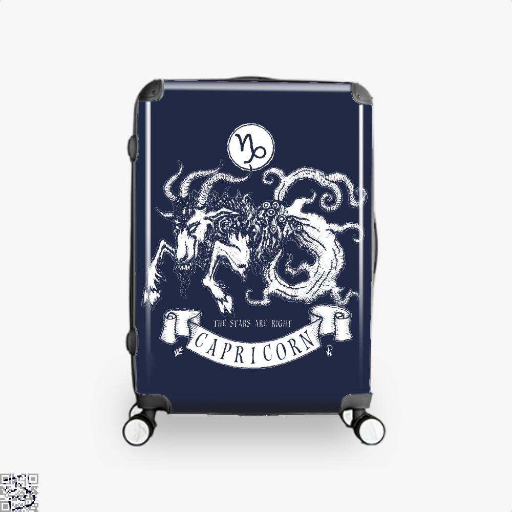 Shub-Niggurath Capricorn Astrology Suitcase - Blue / 16 - Productgenapi