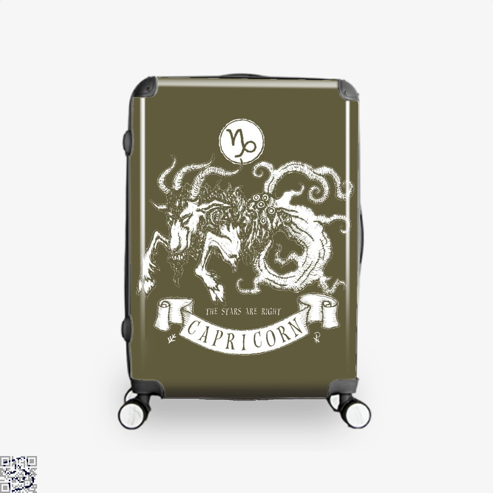 Shub-Niggurath Capricorn Astrology Suitcase - Brown / 16 - Productgenapi