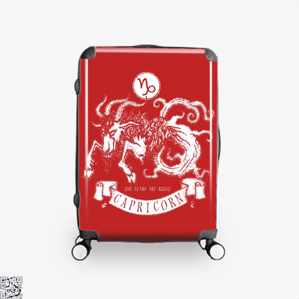 Shub-Niggurath Capricorn Astrology Suitcase - Red / 16 - Productgenapi