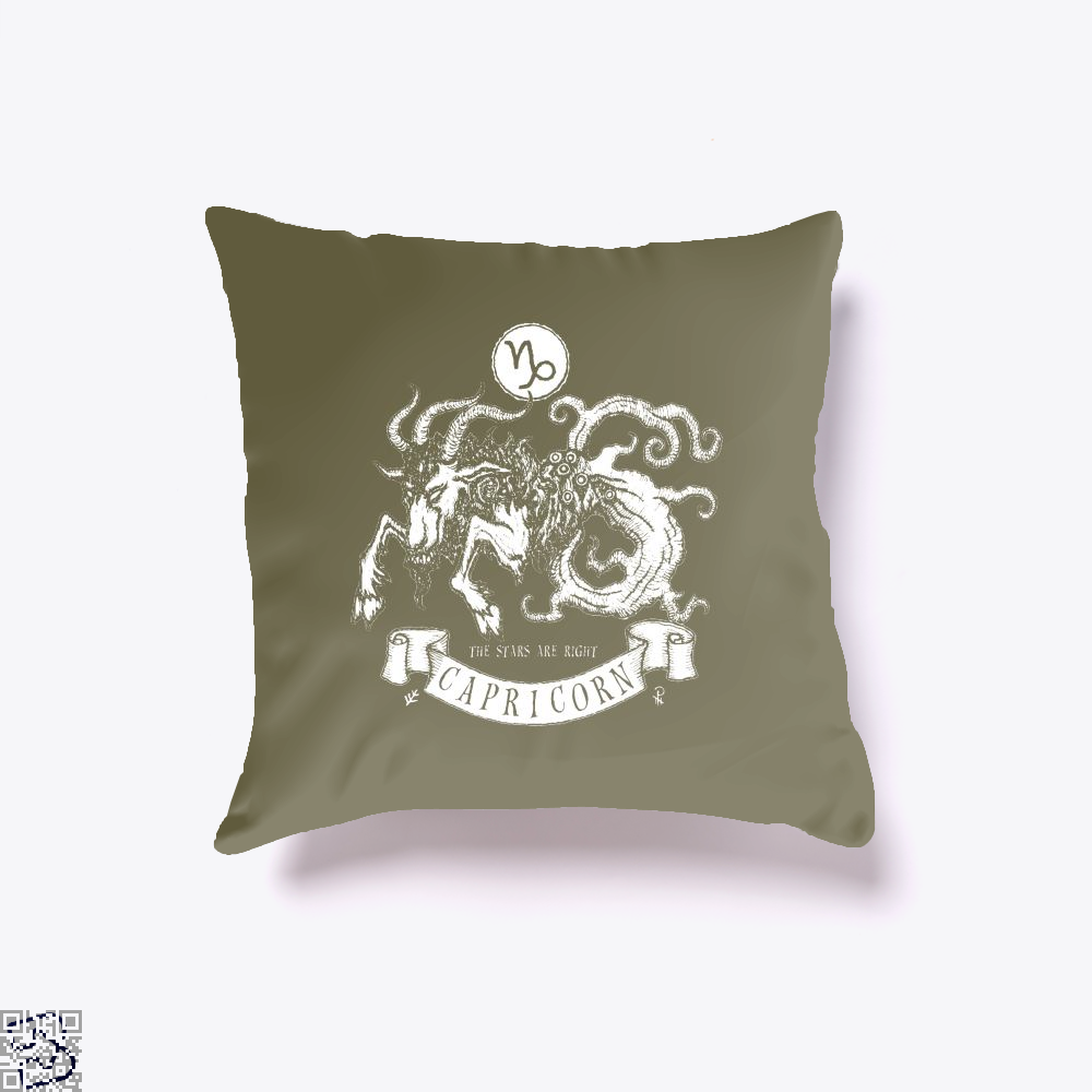 Shub-Niggurath Capricorn Astrology Throw Pillow Cover - Brown / 16 X - Productgenapi