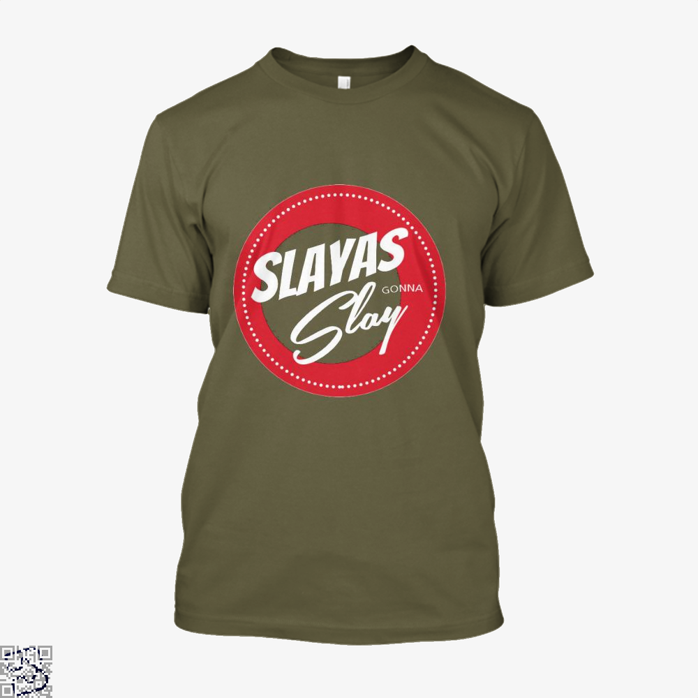 Slayas Gonna Slay Buffy The Vampire Slayer Shirt - Men / Brown / X-Small - Productgenjpg