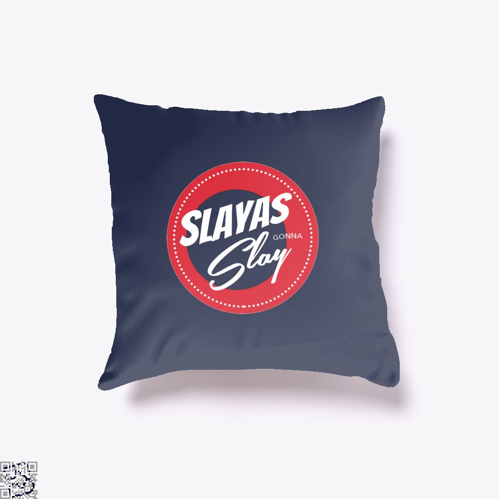 Slayas Gonna Slay Buffy The Vampire Slayer Throw Pillow Cover - Blue / 16 X - Productgenjpg