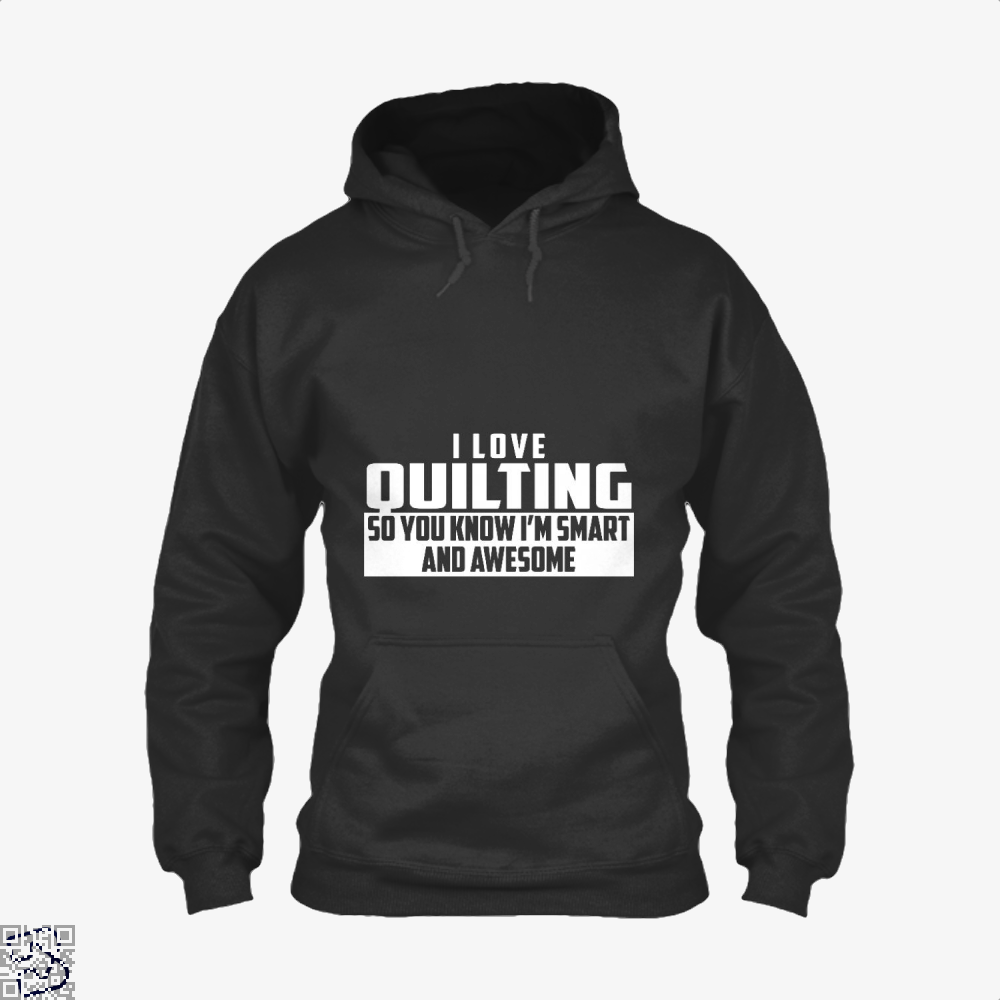 Smart And Awesome Quilting Sewing Hoodie - Black / X-Small - Productgenjpg