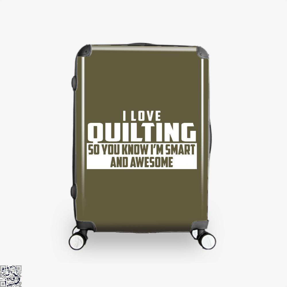 Smart And Awesome Quilting Sewing Suitcase - Brown / 16 - Productgenjpg