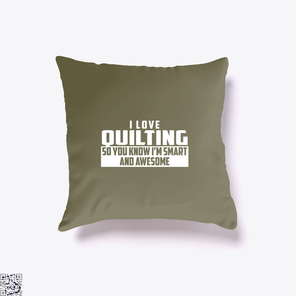 Smart And Awesome Quilting Sewing Throw Pillow Cover - Brown / 16 X - Productgenjpg