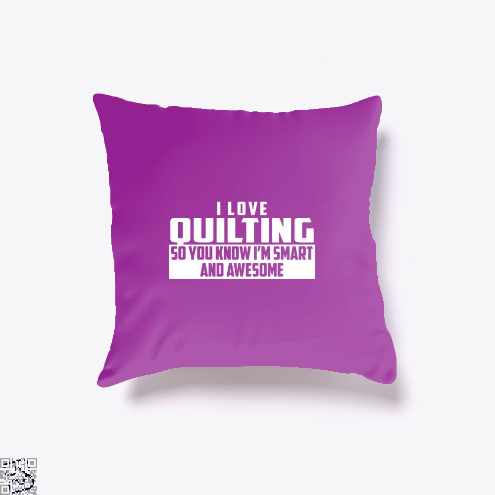 Smart And Awesome Quilting Sewing Throw Pillow Cover - Purple / 16 X - Productgenjpg