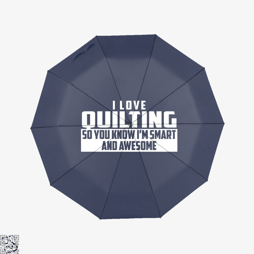 Smart And Awesome Quilting Sewing Umbrella - Blue - Productgenjpg