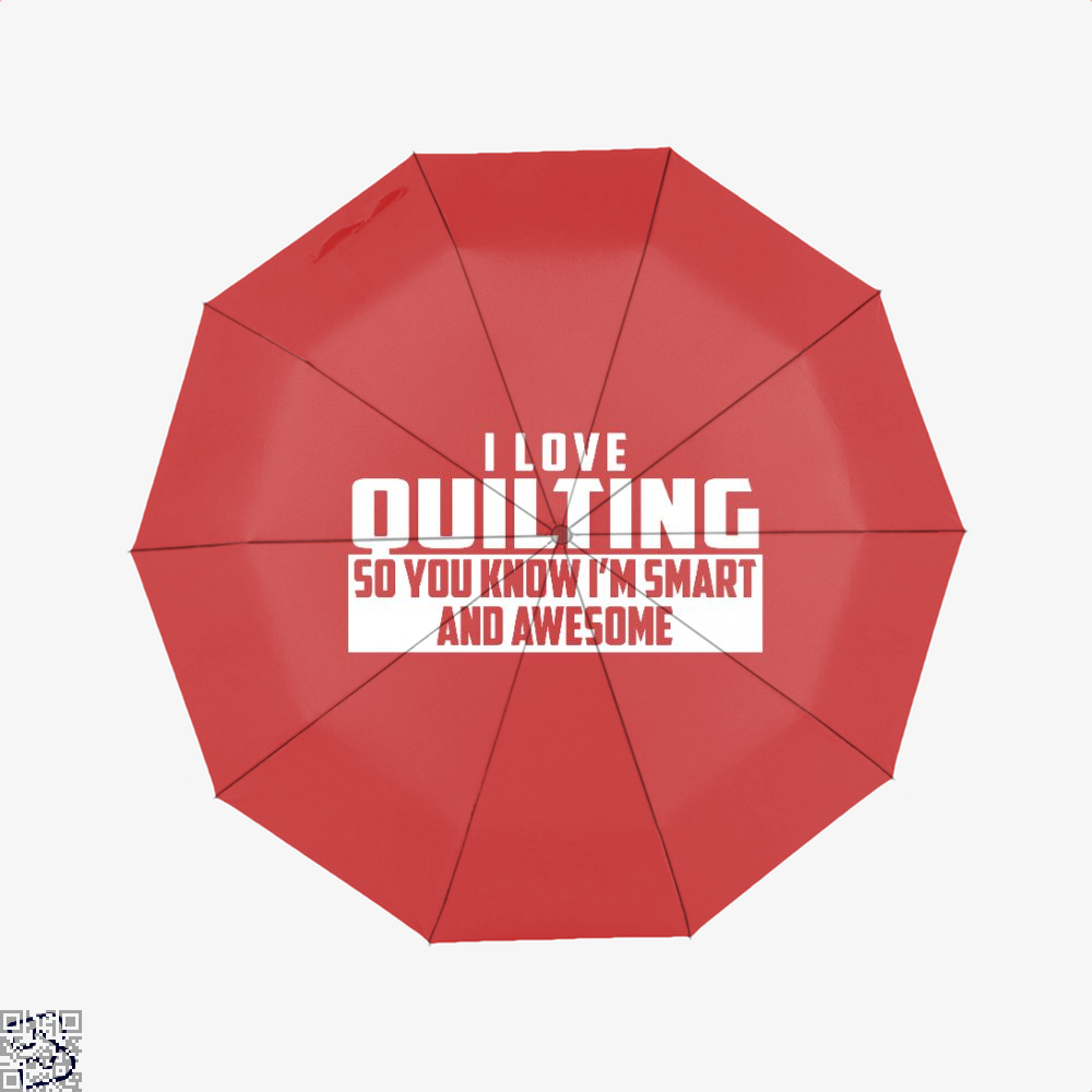 Smart And Awesome Quilting Sewing Umbrella - Red - Productgenjpg
