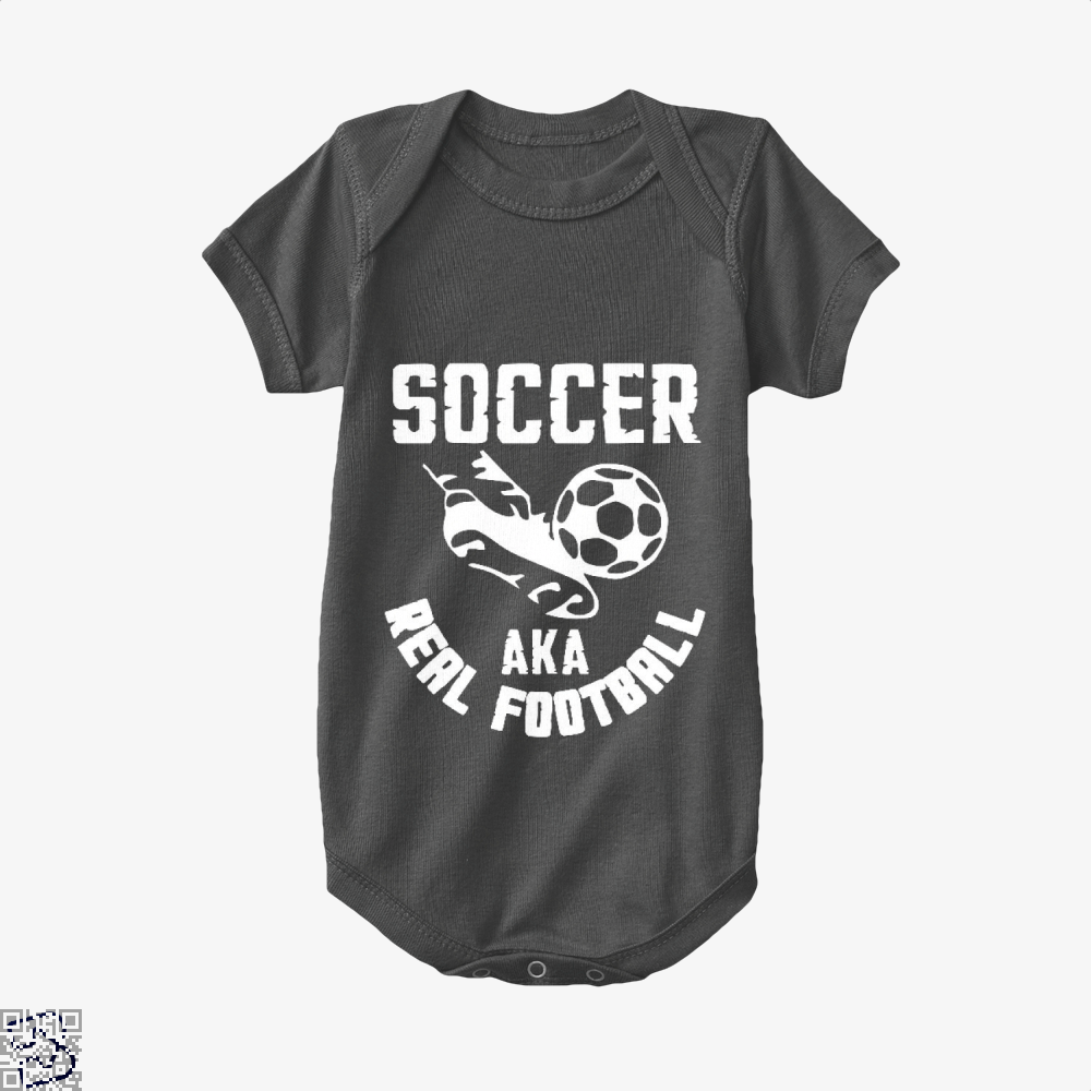 Soccer Aka Real Football Fifa World Cup Baby Onesie - Black / 0-3 Months - Productgenapi