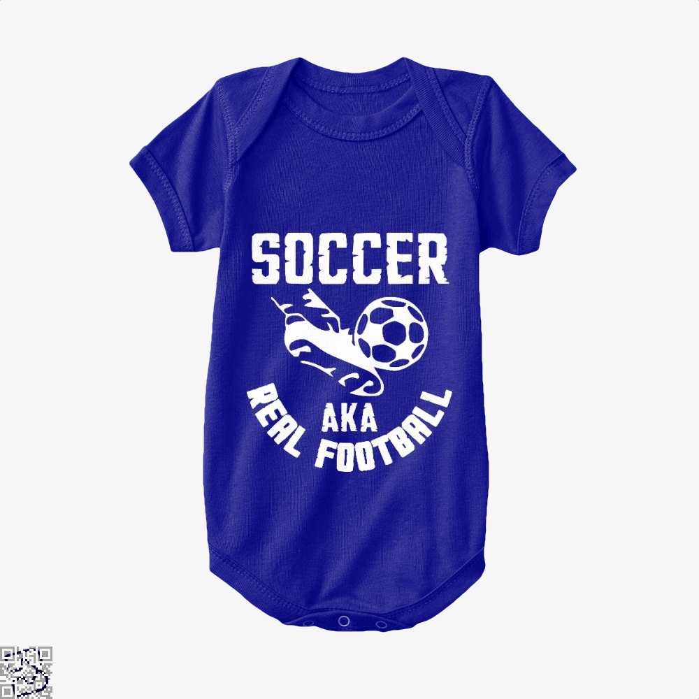 Soccer Aka Real Football Fifa World Cup Baby Onesie - Navy / 0-3 Months - Productgenapi