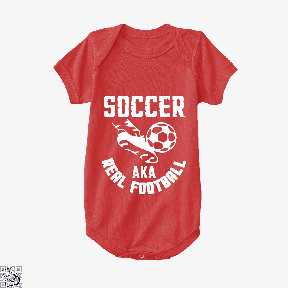 Soccer Aka Real Football Fifa World Cup Baby Onesie - Red / 0-3 Months - Productgenapi