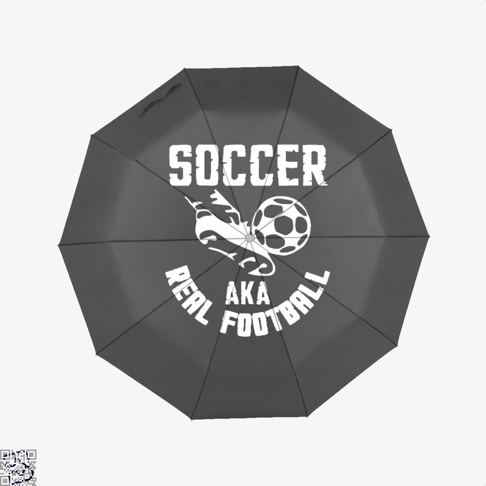 Soccer Aka Real Football Fifa World Cup Umbrella - Black - Productgenapi