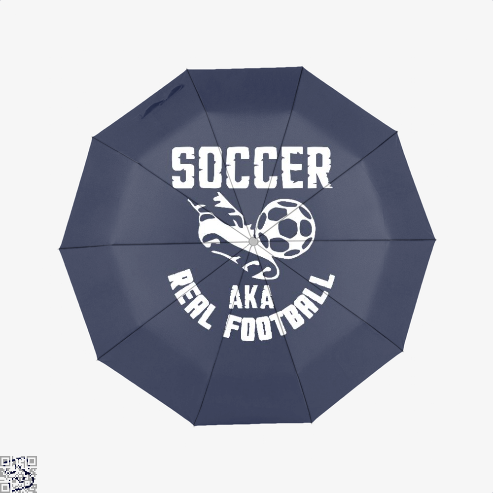 Soccer Aka Real Football Fifa World Cup Umbrella - Blue - Productgenapi