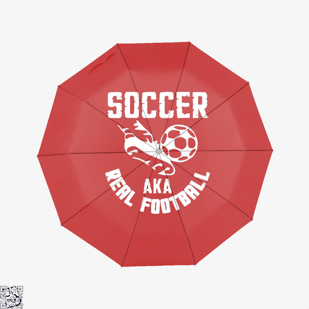 Soccer Aka Real Football Fifa World Cup Umbrella - Red - Productgenapi