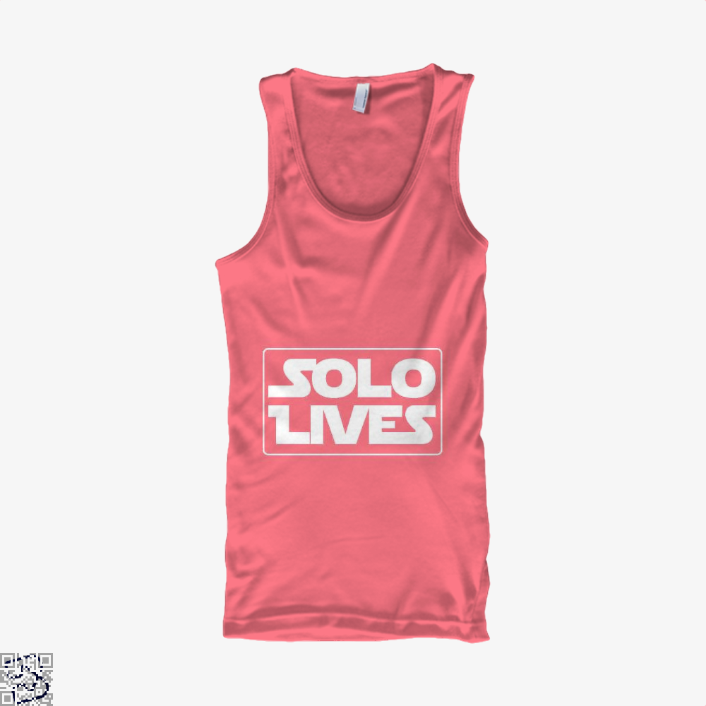Solo Lives Star Wars Tank Top - Women / Pink / Small - Productgenapi