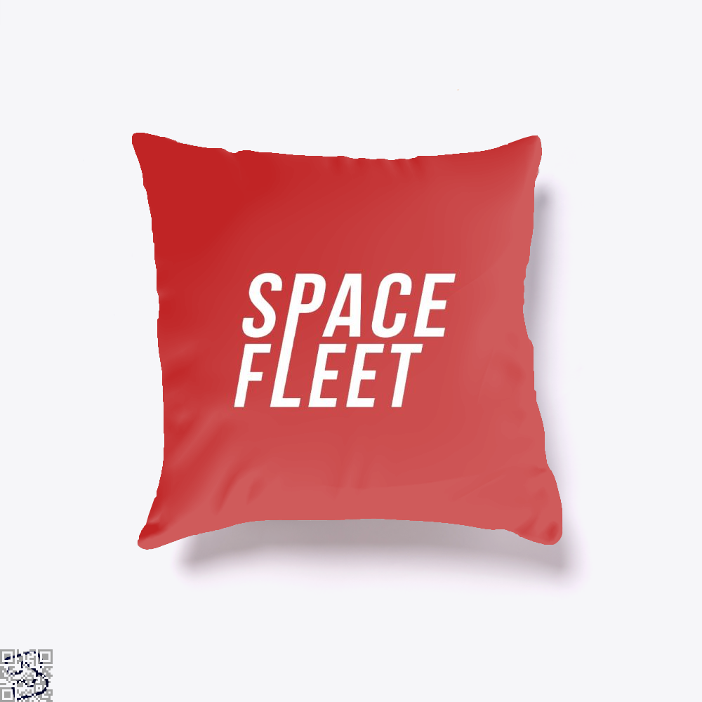 Space Fleet Black Mirror Throw Pillow Cover - Red / 16 X - Productgenjpg