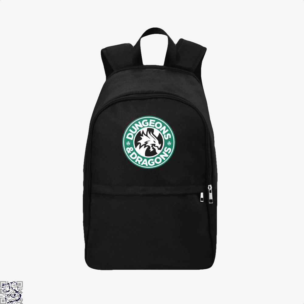 Starbucks Parody Mashup Dragon And Dungeon Backpack - Black / Adult - Productgenjpg