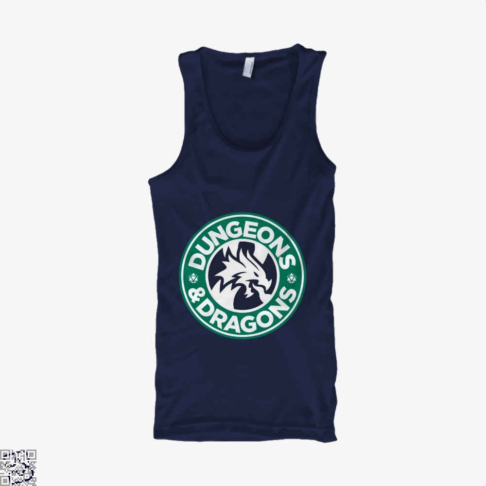 Starbucks Parody Mashup Dragon And Dungeon Tank Top - Men / Blue / X-Small - Productgenjpg