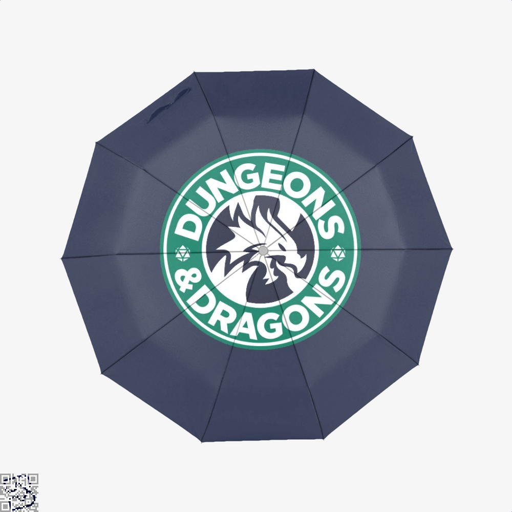 Starbucks Parody Mashup Dragon And Dungeon Umbrella - Blue - Productgenjpg