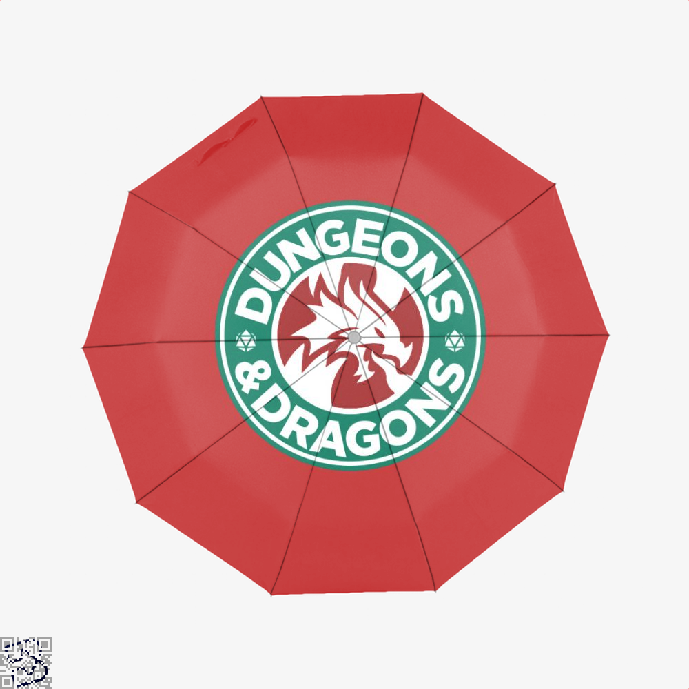 Starbucks Parody Mashup Dragon And Dungeon Umbrella - Red - Productgenjpg