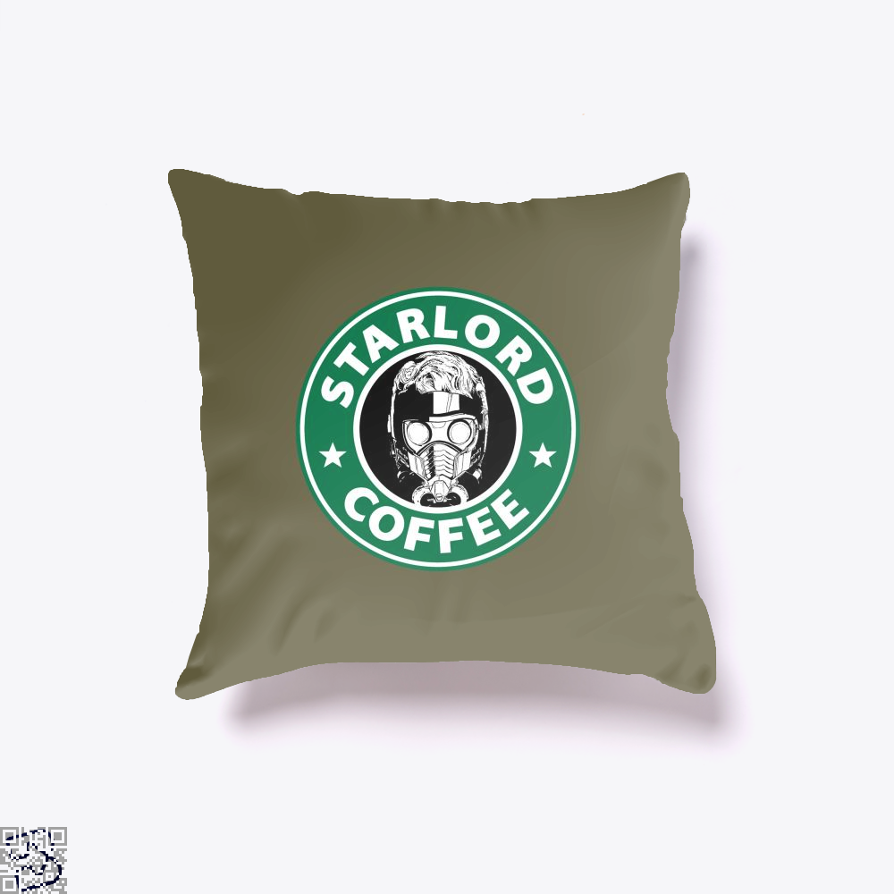 Starlord Coffee Guardians Of The Galaxy Throw Pillow Cover - Brown / 16 X - Productgenjpg