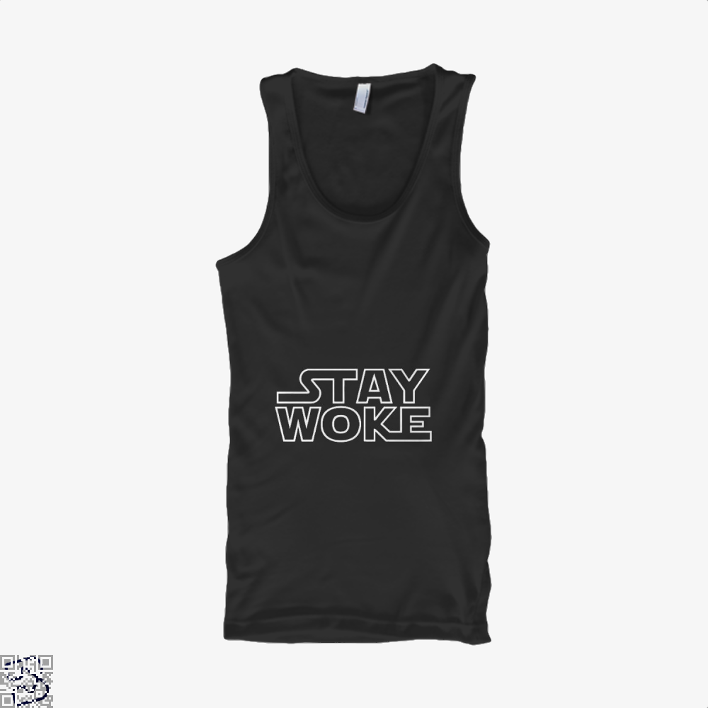 Stay Woke Star Wars Tank Top - Men / Black / Small - Productgenapi