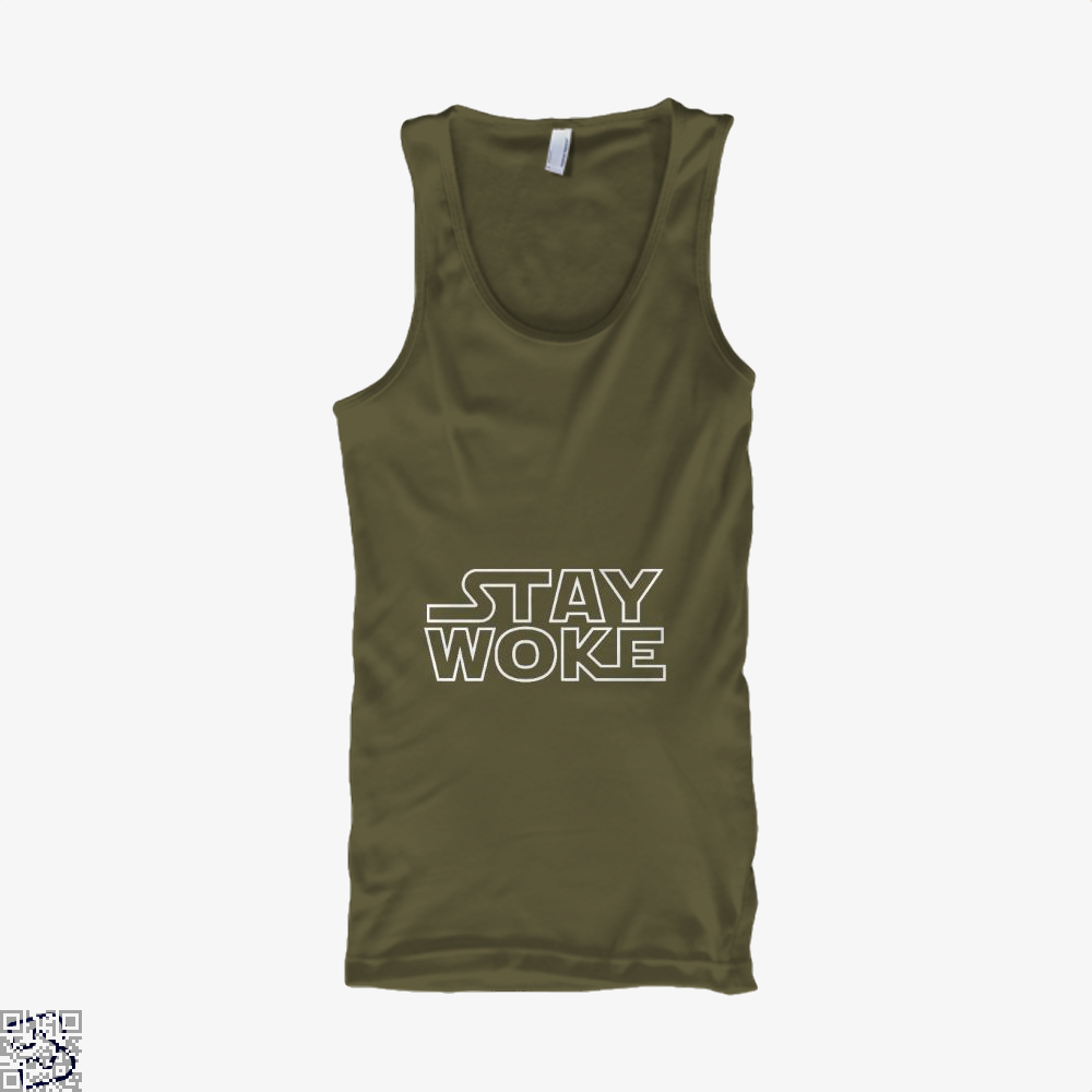 Stay Woke Star Wars Tank Top - Men / Brown / Small - Productgenapi