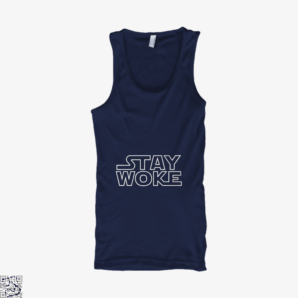 Stay Woke Star Wars Tank Top - Women / Blue / Small - Productgenapi