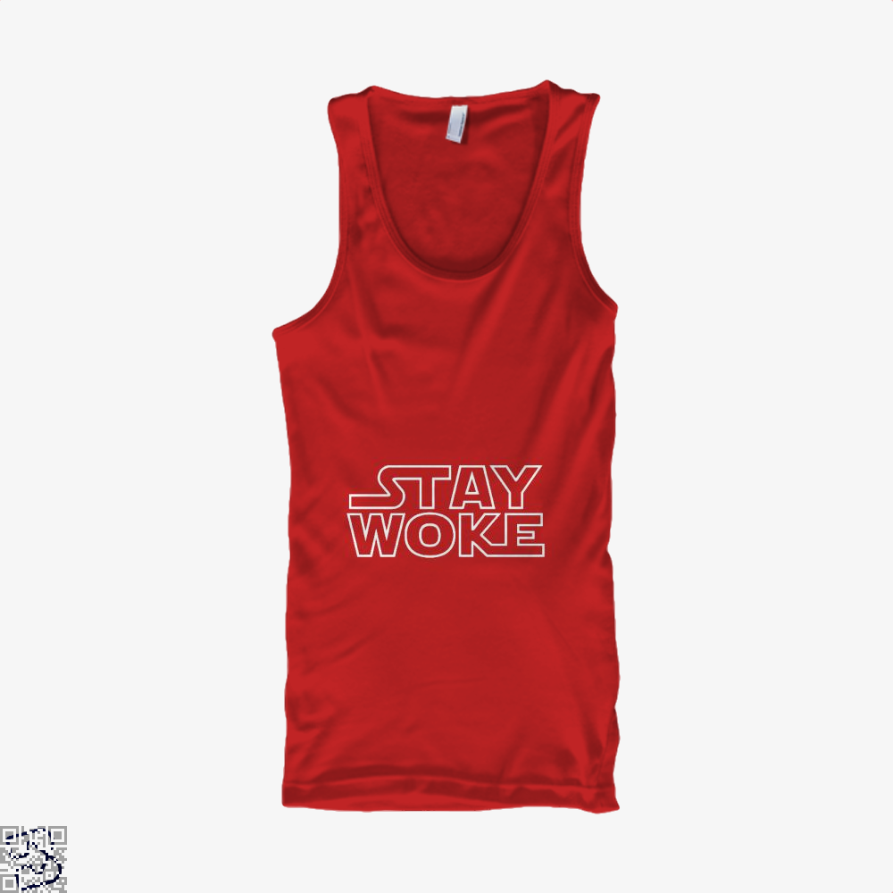 Stay Woke Star Wars Tank Top - Women / Red / Small - Productgenapi