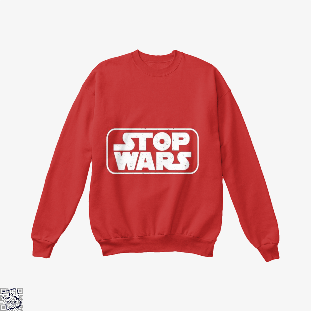 Stop Wars Philadelphia Football Fans Crew Neck Sweatshirt - Red / X-Small - Productgenjpg