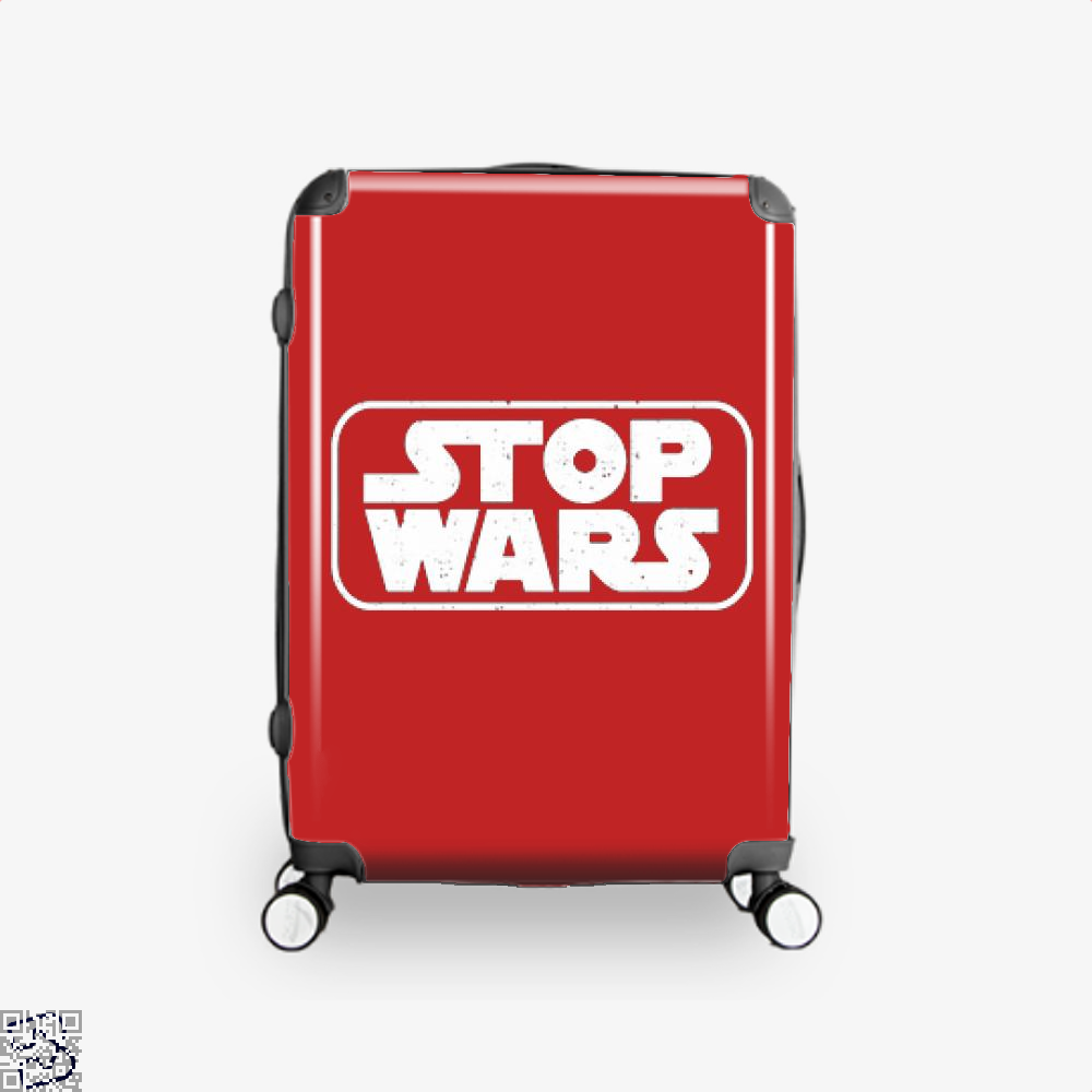 Stop Wars Philadelphia Football Fans Suitcase - Red / 16 - Productgenjpg