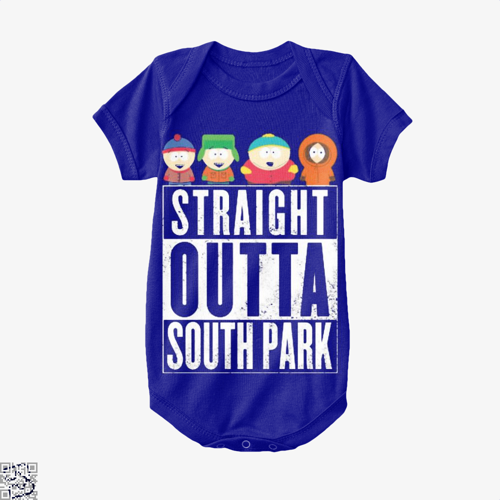 Straight Outta South Park Baby Onesie - Navy / 0-3 Months - Productgenapi