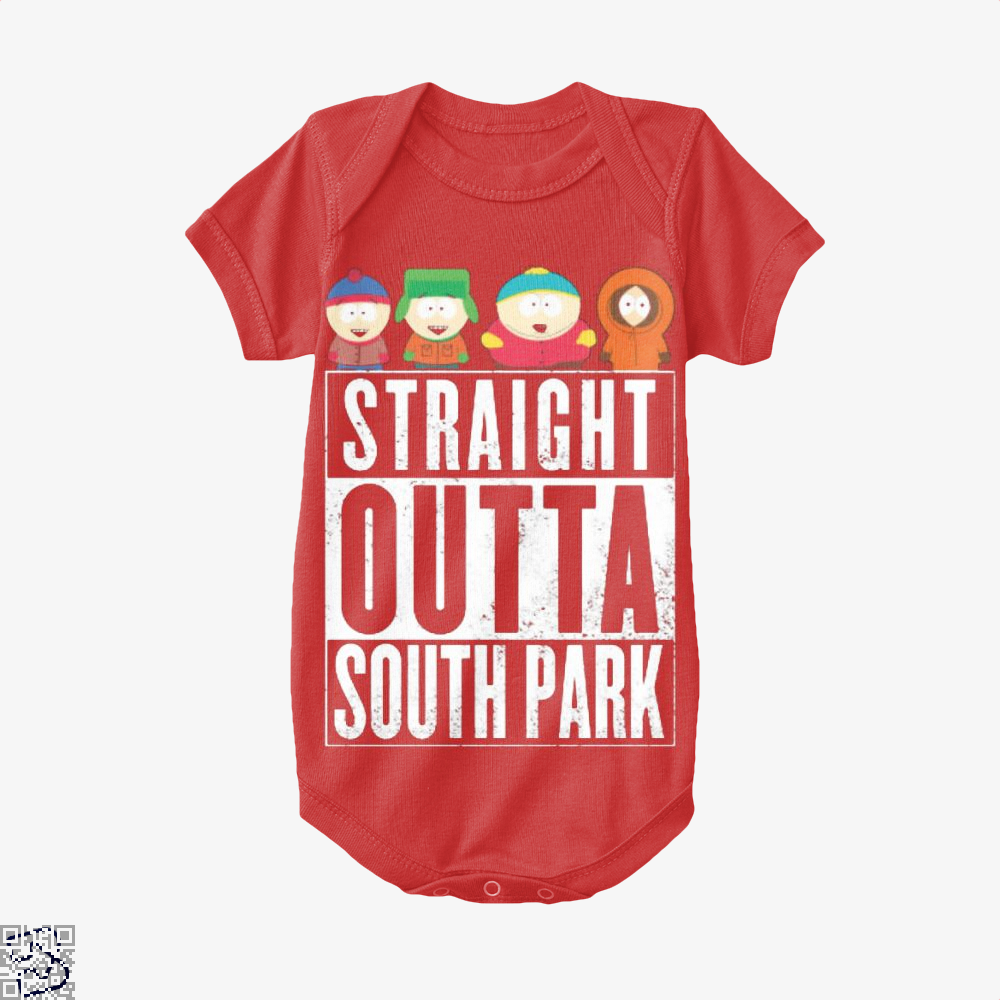 Straight Outta South Park Baby Onesie - Red / 0-3 Months - Productgenapi