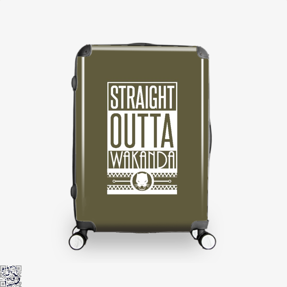 Straight Outta Wakanda Avengers Infinity War Suitcase - Brown / 16 - Productgenapi