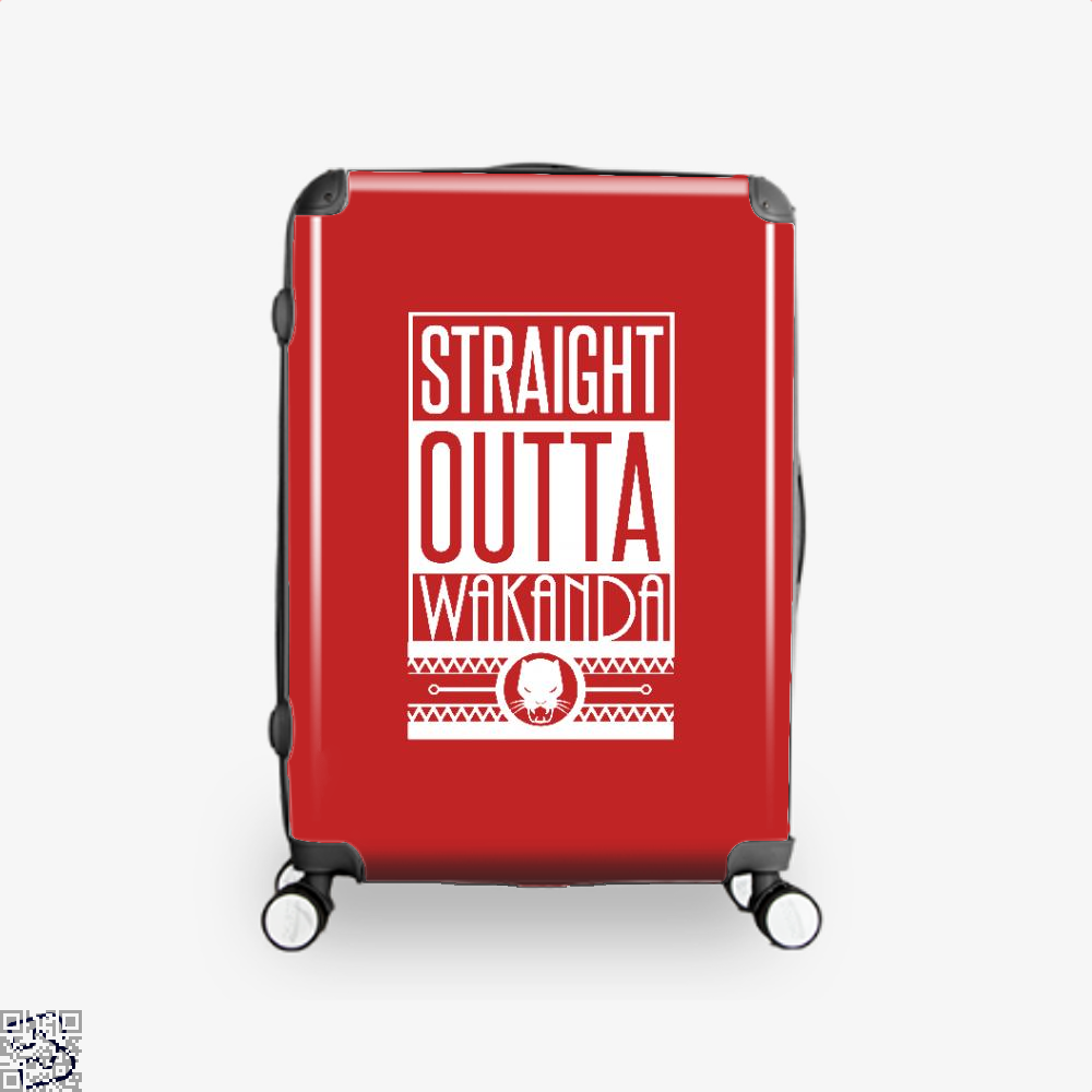 Straight Outta Wakanda Avengers Infinity War Suitcase - Red / 16 - Productgenapi