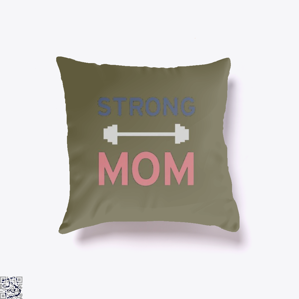 Strong Mom Mothers Day Throw Pillow Cover - Brown / 16 X - Productgenjpg