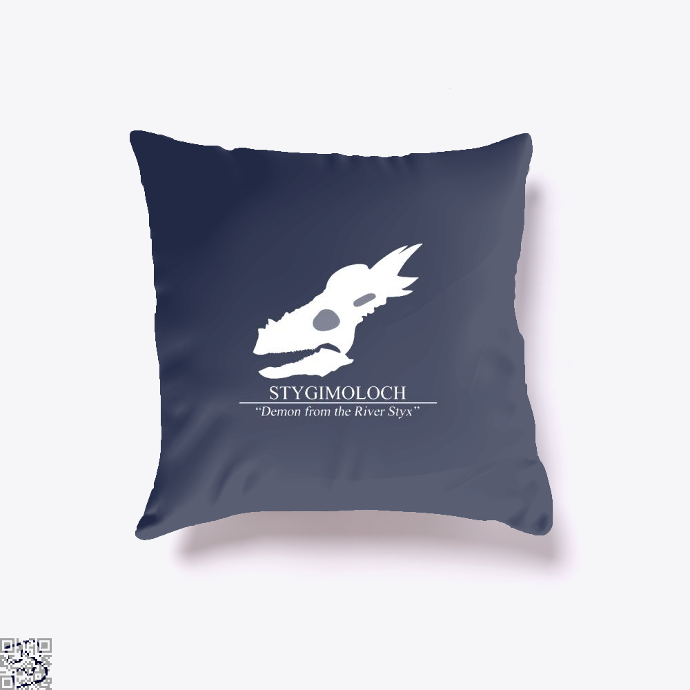 Stygimoloch Skull Jurassic World Throw Pillow Cover - Blue / 16 X - Productgenapi