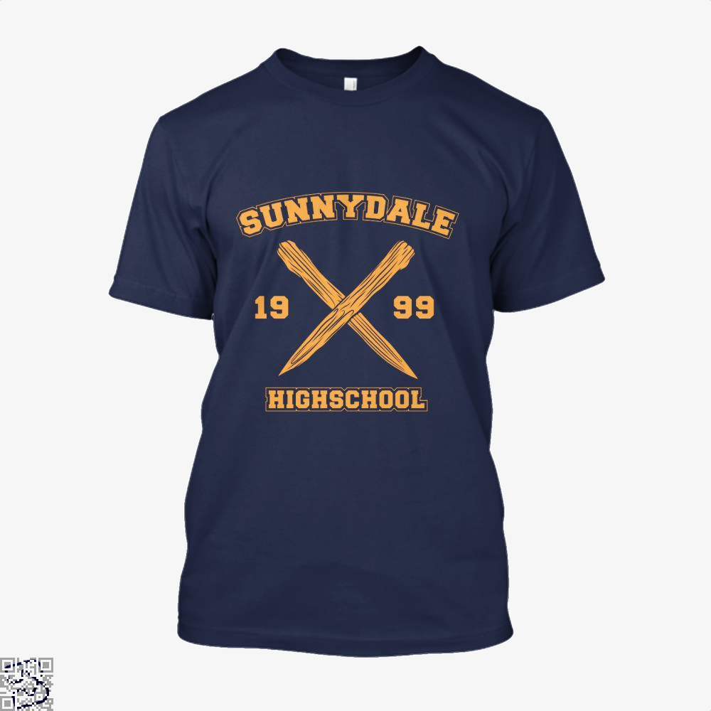 Sunnydale Highschool Buffy The Vampire Slayer Shirt - Men / Blue / X-Small - Productgenjpg