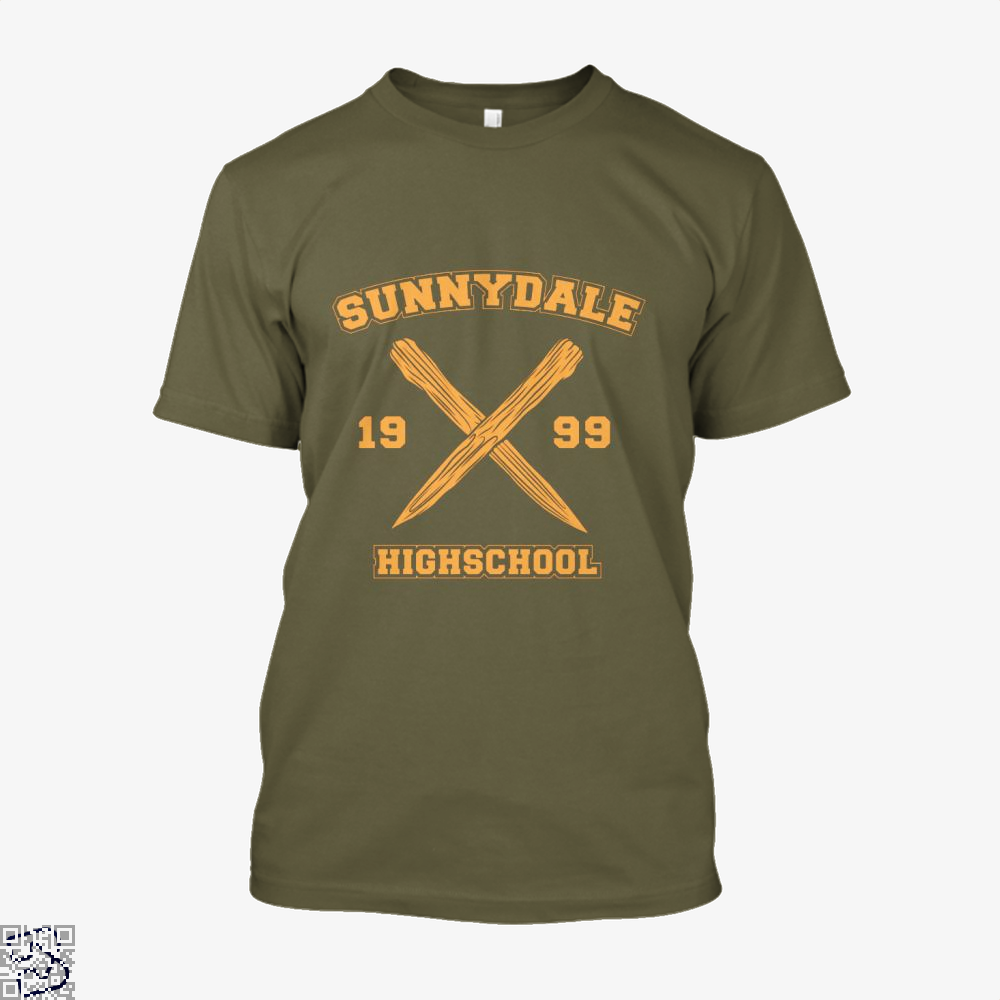 Sunnydale Highschool Buffy The Vampire Slayer Shirt - Men / Brown / X-Small - Productgenjpg