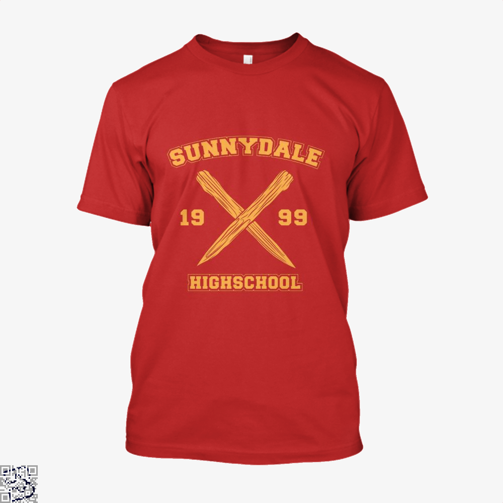 Sunnydale Highschool Buffy The Vampire Slayer Shirt - Men / Red / X-Small - Productgenjpg