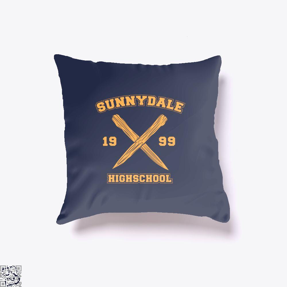 Sunnydale Highschool Buffy The Vampire Slayer Throw Pillow Cover - Blue / 16 X - Productgenjpg
