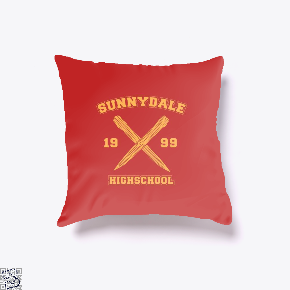 Sunnydale Highschool Buffy The Vampire Slayer Throw Pillow Cover - Red / 16 X - Productgenjpg